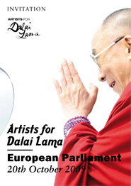 Artists for Dalai Lama im EU Parlament